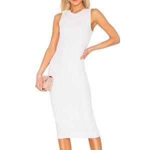 rag & bone M White Brea Cable Rib Knit Dress